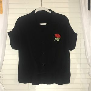 Tops - Black rose polo
